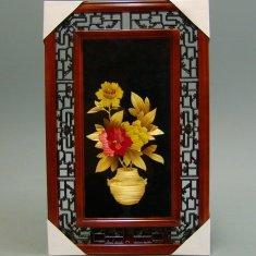 Картина с соломкой 35х55 см. Ваза с пионами (цв.) (в ассорт.)