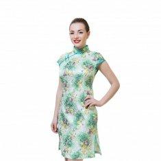 Платье Ципао зеленое M