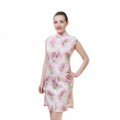 Платье Ципао светло-розовое S