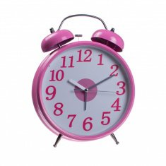 Часы будильник (розовый) 30 см, d=20 см