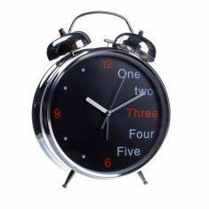 Часы будильник (черный, англ.) 30 см, d=20 см