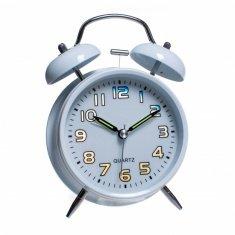 Часы - будильник 16 см.  d=9 см.(бел.)