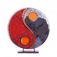 Светильник 35 см. Инь Янь(плафон кругл.) - в ассорт.(металл,стекло, мозаика)