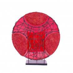 Светильник 35 см.(плафон кругл.) - в ассорт.(металл, плетён.)