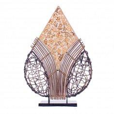 Светильник 45 см.(плафон резн. капля) -(металл, плетён. мозаика.)