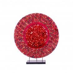 Светильник 35 см.(плафон кругл.) - в ассорт.(металл, камень, ракушка.)