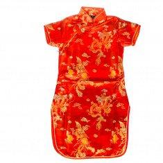 Платье Ципао красное детское  р-р 4