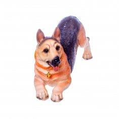 Собака 20 см. Овчарка  (полистоун)