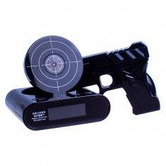 Будильник с мишенью и пистолетом GUN ALARM CLOK