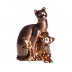 """Статуэтка """"Коты влюбленные мини №1"""" Бронза 9 см (гипс)"""