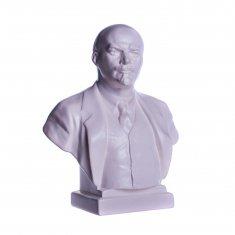"""Статуэтка бюст """"Ленин В. И."""" Белый 19 см (гипс)"""