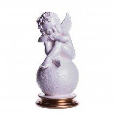 """Статуэтка """"Ангел на шаре"""" Белый 23 см (гипс)"""