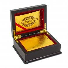 """Карты для игры в покер """"500 евро """" золотые в подарочной упаковке (пластик)"""
