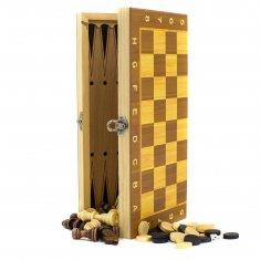 Шахматы-шашки-нарды W7722 29х29 см. (кор. 60 шт.)