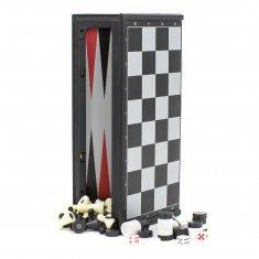 Шахматы-нарды-шашки 25x25 см магнитные