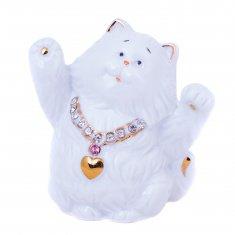 Кошка белая h=10 см (фарфор) (кор. 60 шт.)