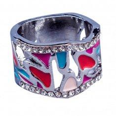 Кольцо (цвет серебро) (размеры:17,18,19)