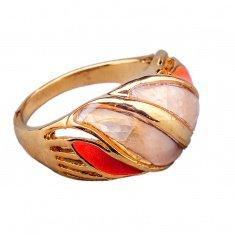 Кольцо (цвет золото, серебро) (размеры:17,18,19)