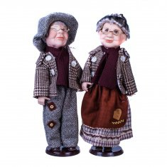 Куклы Бабушка с дедушкой 40 см.  (керам.) (в ассорт.)