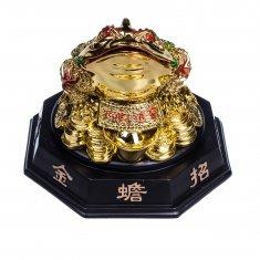 Жаба золотая h=20 см.(гипсолит)