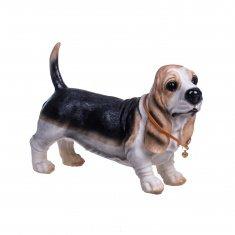 Собака 20 см. Бассет (полистоун)