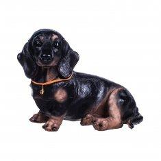 Собака 20 см. Такса (полистоун)