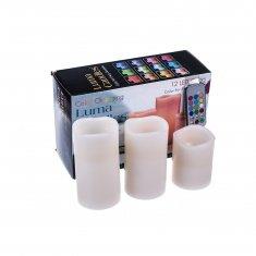 Набор светодиодных свечей Color Changing Luma Candles (12 цветов) (набор 3 шт.)