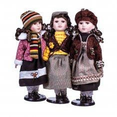 Кукла 40 см. на подставке (керам.) (в ассорт.)