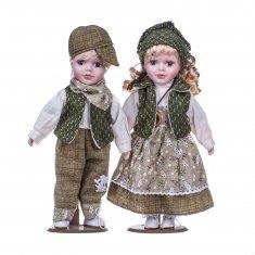 Кукла Мальчик и девочка 30 см (2 шт.) (керам.) (в ассорт.)