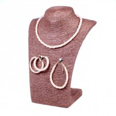 Набор бижутерии (серьги, браслет, колье) (в ассорт. цвет-золото, серебро)
