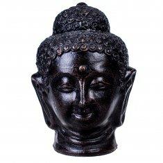 Голова Будды h=25 см. Коричневая (терракота)