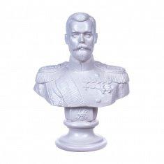 """Статуэтка бюст """"Николай II"""" Белый 15 см (гипс)"""