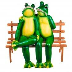 Садовая фигура Лягушка на скамейке (полистоун) 61см