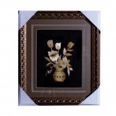 Картина с соломкой 33х37 см. Букет цветов в вазе (в ассорт.)