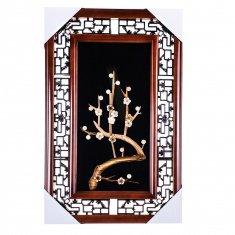 Картина с соломкой 35х55 см. Сакура