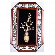 Картина с соломкой 35х55 см. Ваза с сакурой (в ассорт.)