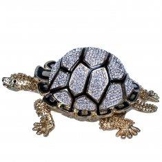 Шкатулка Черепаха l=15 см, h=7 см (металл, стразы)