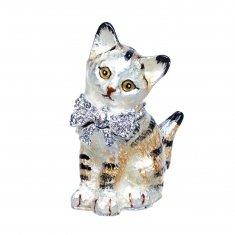 Шкатулка Кошка h=8 см (металл, стразы)