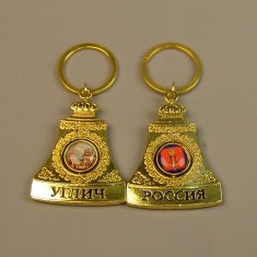 Брелок-колокол Углич (цвет-золото) (уп. 12 шт.)