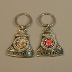 Брелок-колокол Углич (цвет-серебро) (уп. 12 шт.)