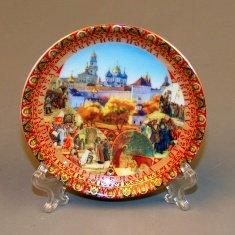 Магнит-тарелка 8 см. Сергиев Посад (кор. 240 шт.) (фарфор)