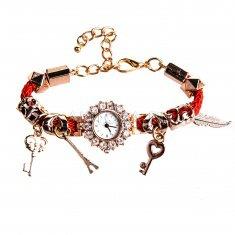Часы наручные женские d=2 см. круглые (в ассорт.)