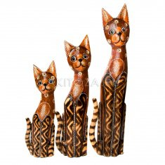 Кошки (набор 3 шт.) h=40, 50, 60 см (дерево)