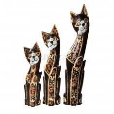 Кошки (набор 3 шт.) h=40, 50, 60 см. (дерево)