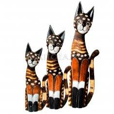Кошки (набор 3 шт.) h=40,50,60 см.(дерево албезия)