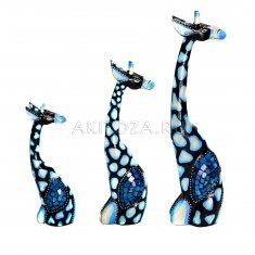 Жирафы (набор 3 шт.) h=50,40,30 см. (дерево)
