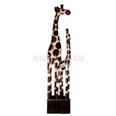 Жирафы h=100 см. (тонированное дерево)