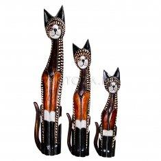 Кошки (набор 3 шт.) h=60, 80, 100 см. (дерево)