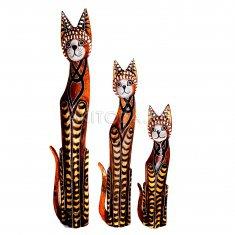 Кошки (набор 3 шт.) h=60, 80, 100 см. (дерево албезия)