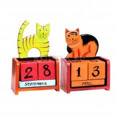 Календарь настольный Животные h=19 см. (в ассорт.) (дерево)